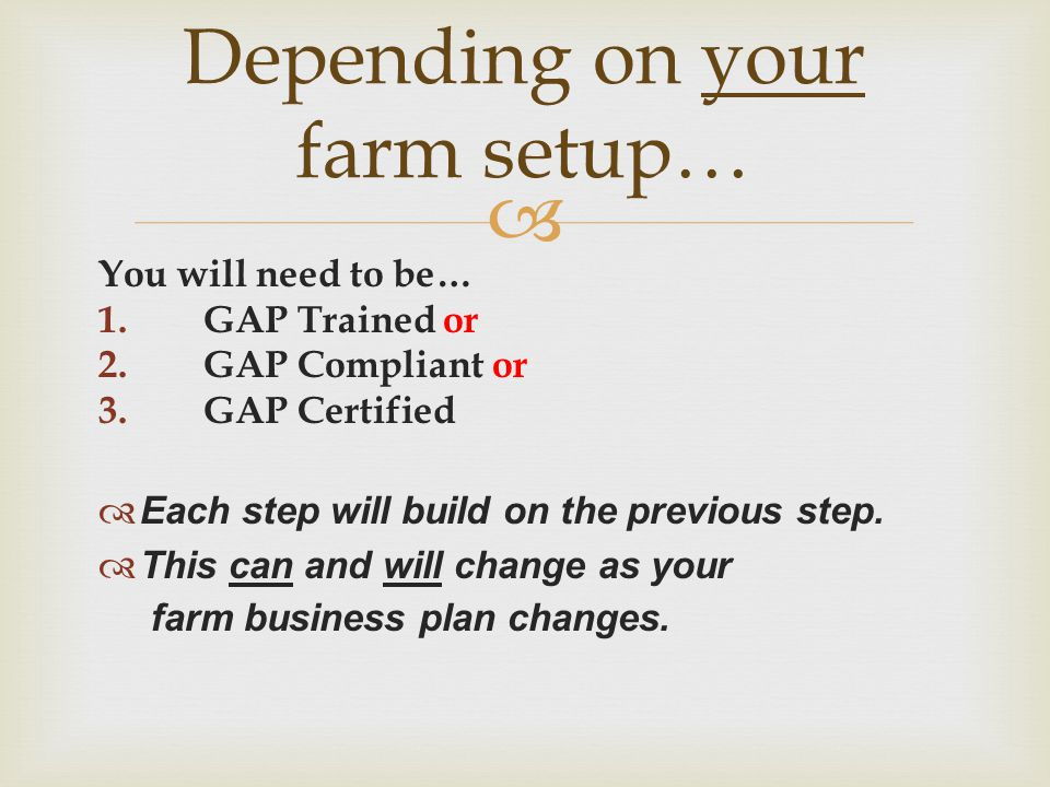 Depending on your farm setup…