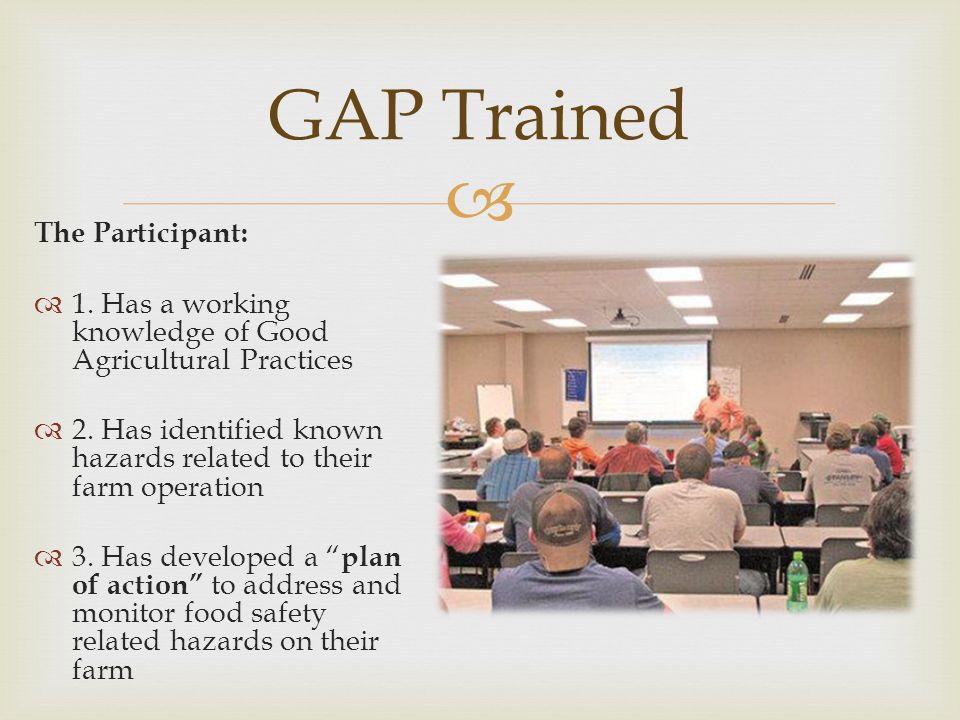 GAP Trained The Participant: