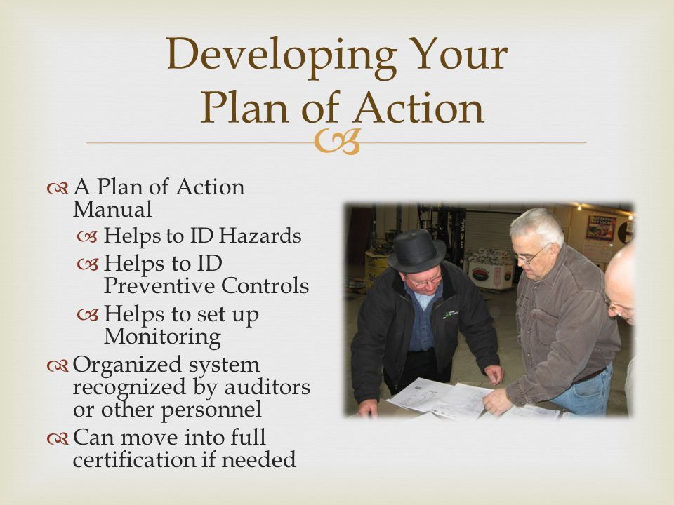 Developing Your Plan of Action