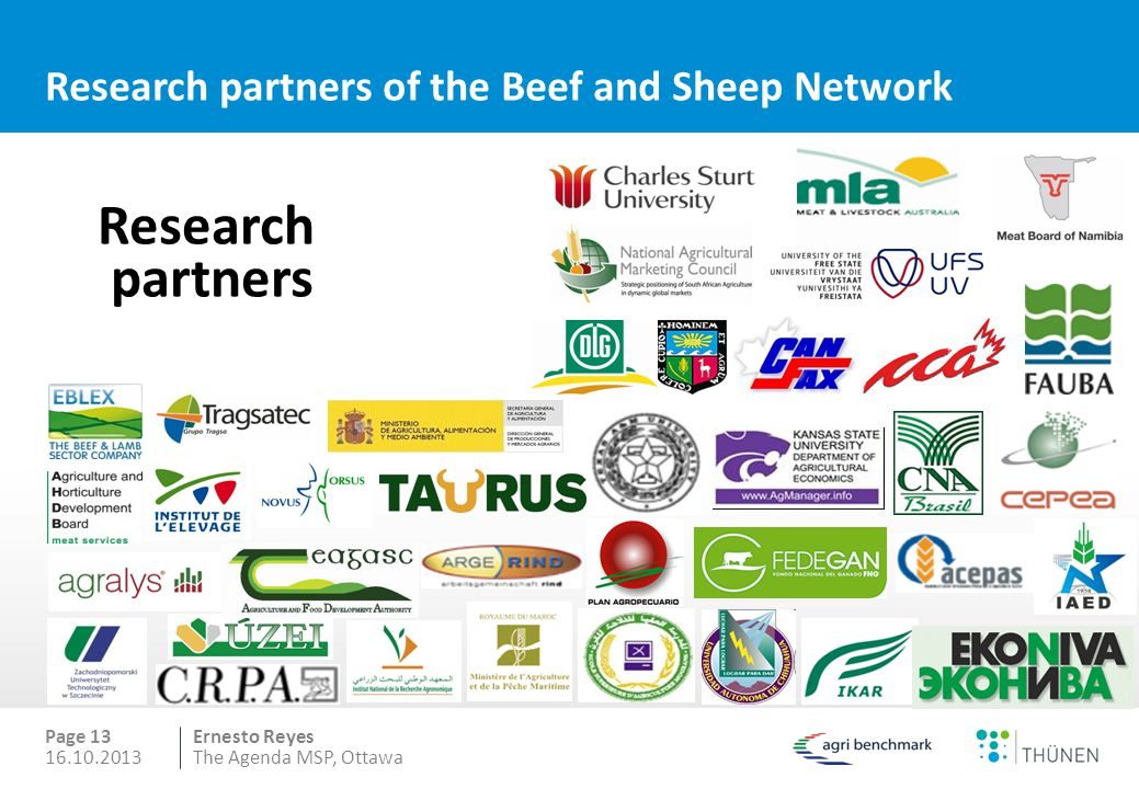 Research partners of the Beef and Sheep Network