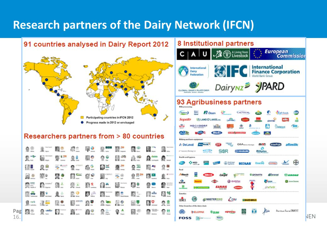 Research partners of the Dairy Network (IFCN)