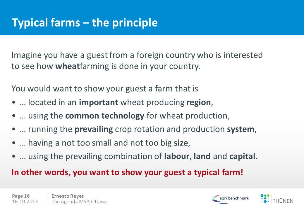 Typical farms – the principle