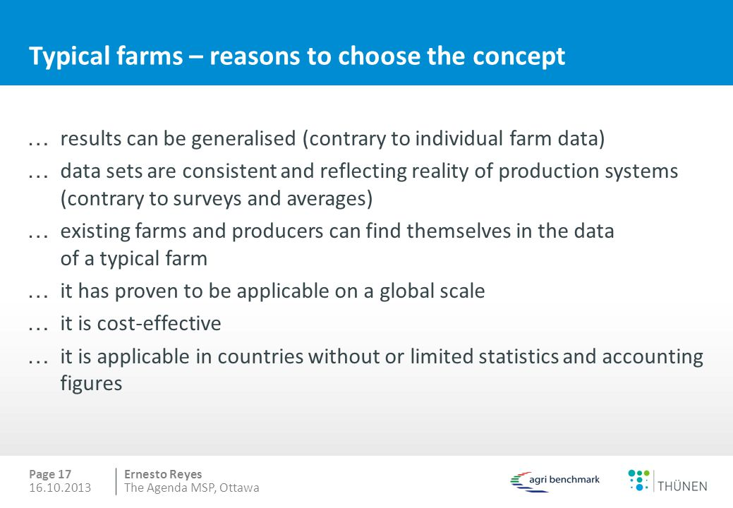 Typical farms – reasons to choose the concept