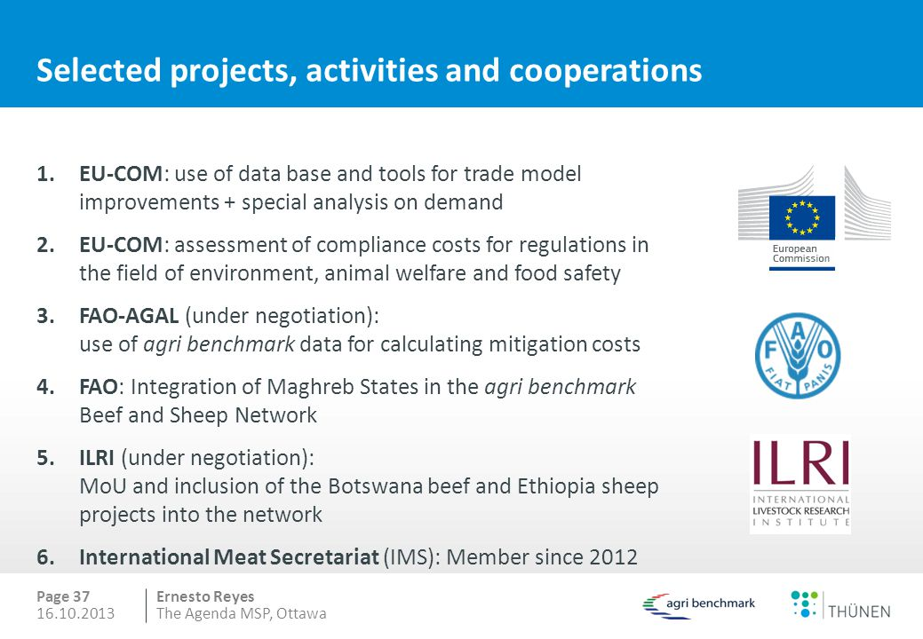 Selected projects, activities and cooperations