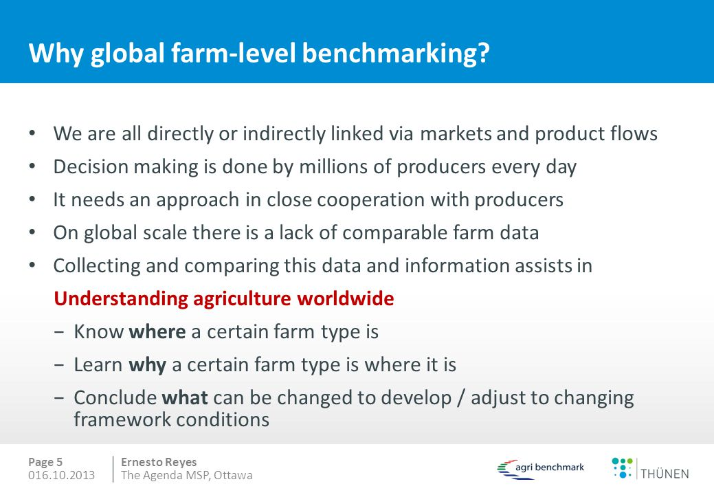 Why global farm-level benchmarking