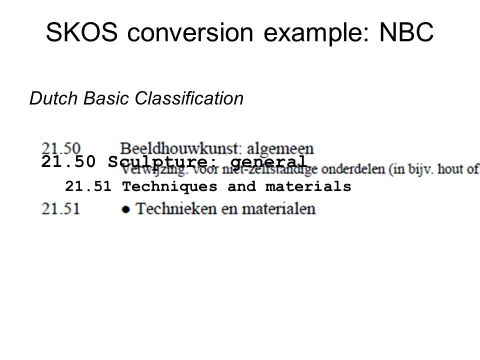 SKOS conversion example: NBC