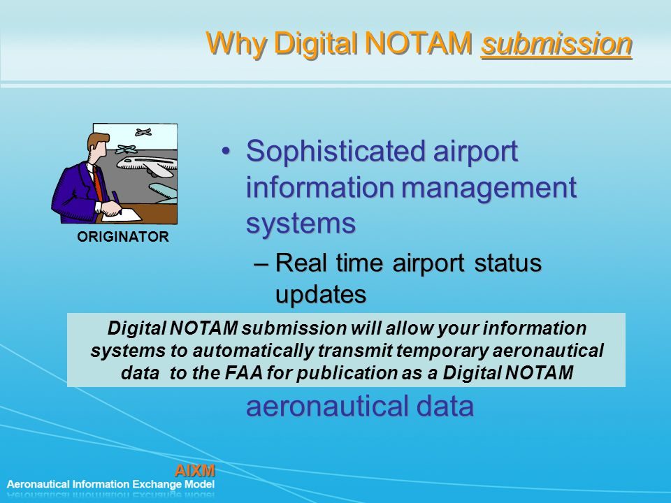 Why Digital NOTAM submission