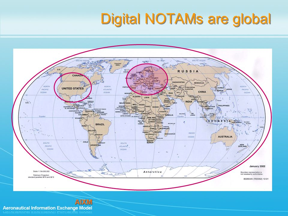 Digital NOTAMs are global