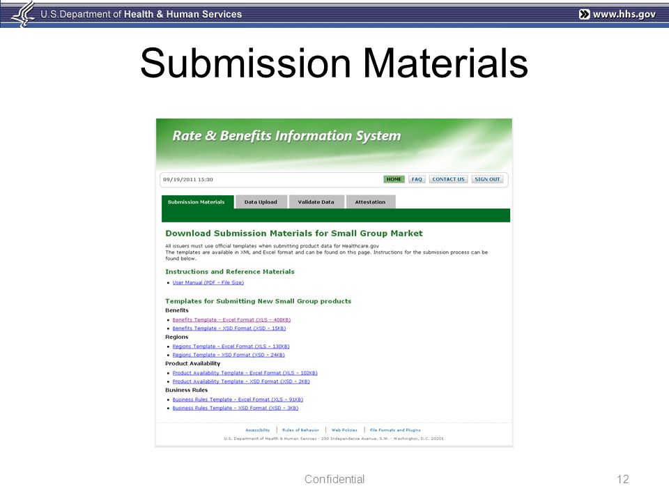 Submission Materials Confidential