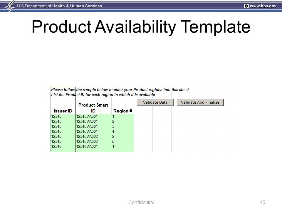 Product Availability Template