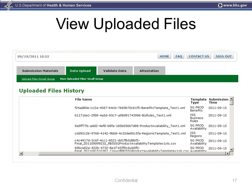View Uploaded Files Confidential