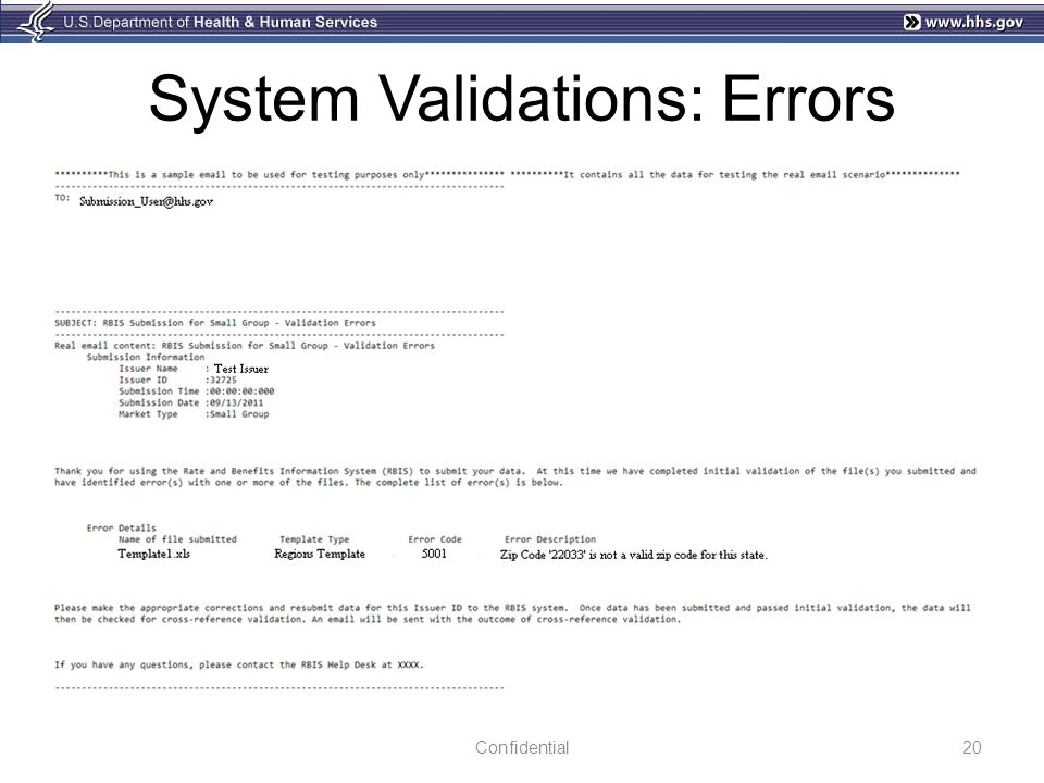 System Validations: Errors