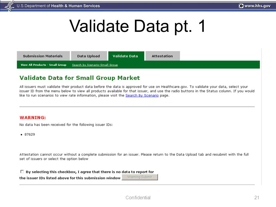 Validate Data pt. 1 Confidential