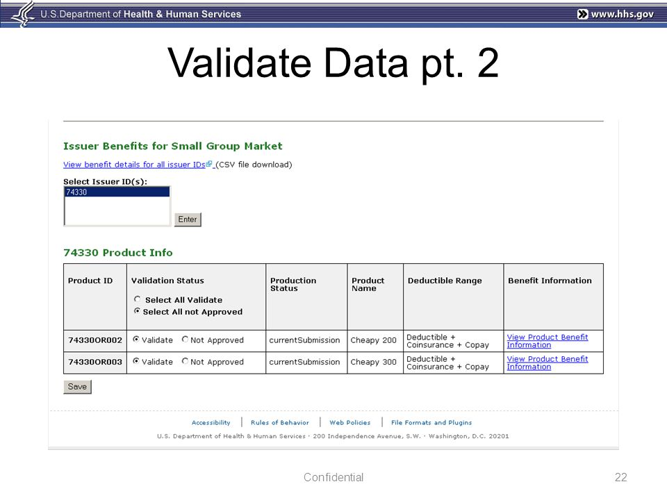 Validate Data pt. 2 Confidential