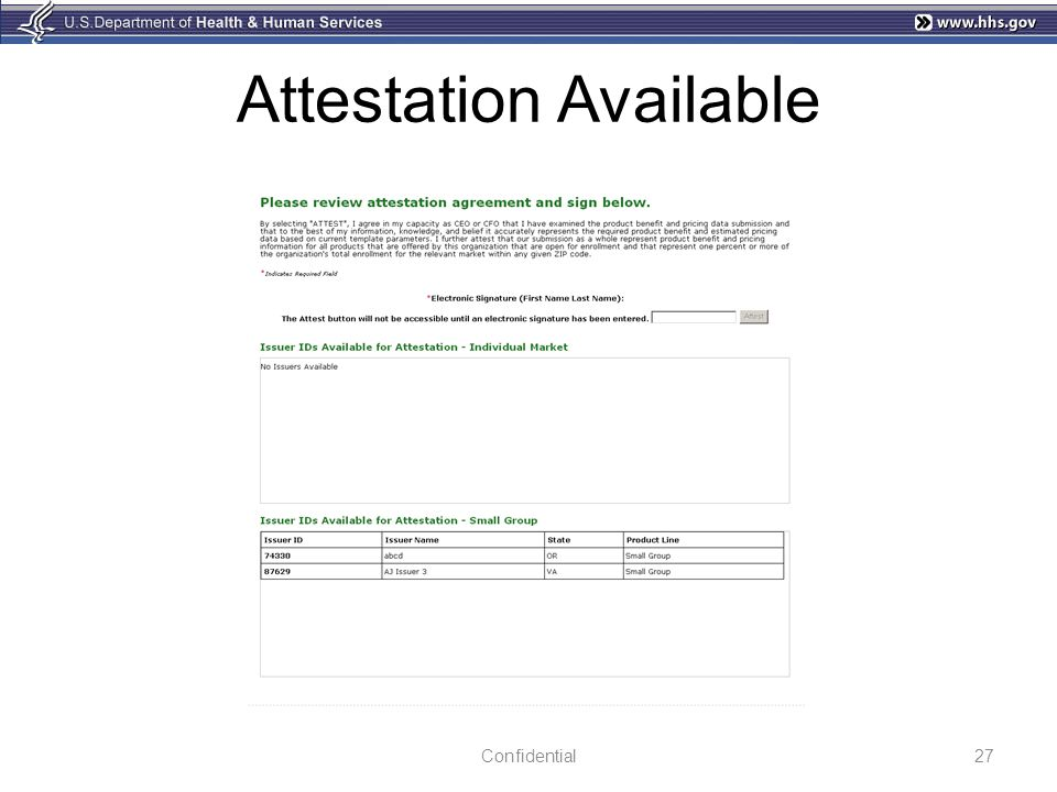 Attestation Available