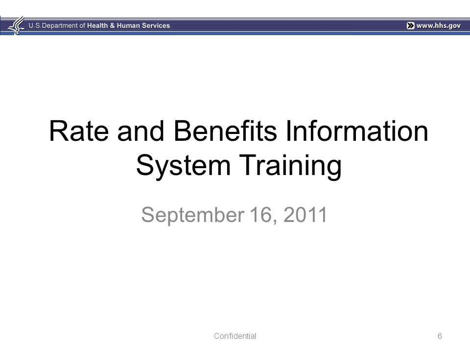 Rate and Benefits Information System Training