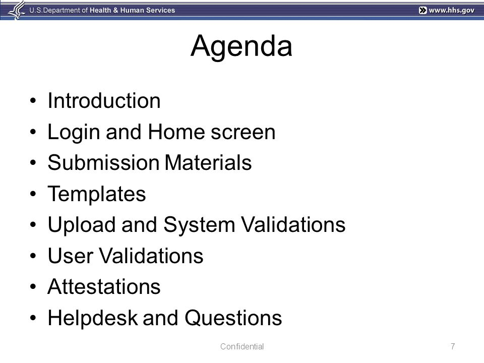 Agenda Introduction Login and Home screen Submission Materials