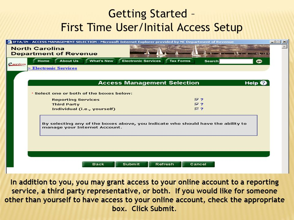 Getting Started – First Time User/Initial Access Setup