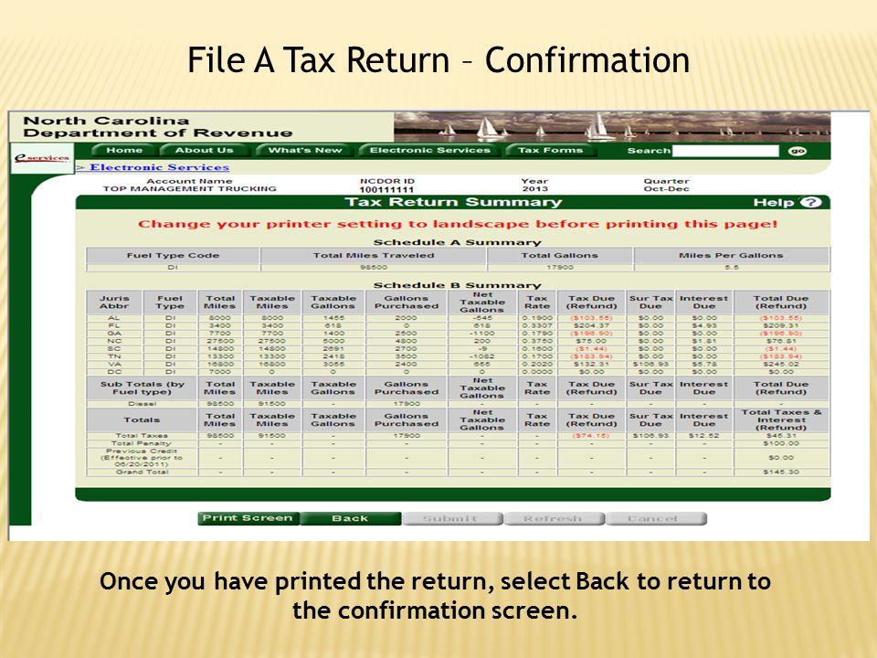 File A Tax Return – Confirmation