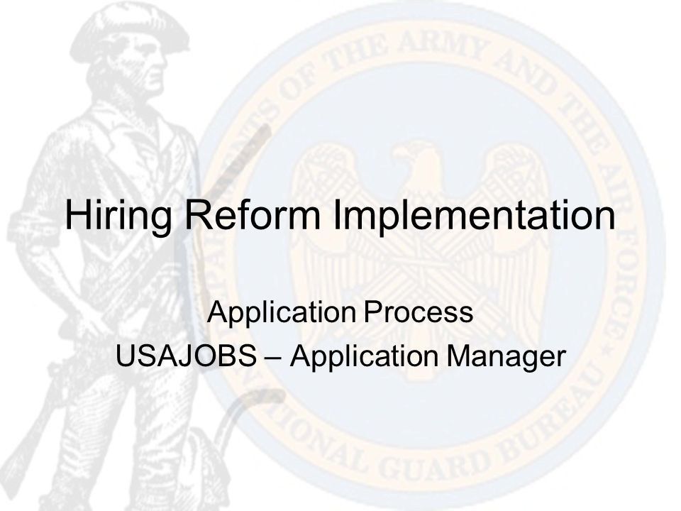 Hiring Reform Implementation