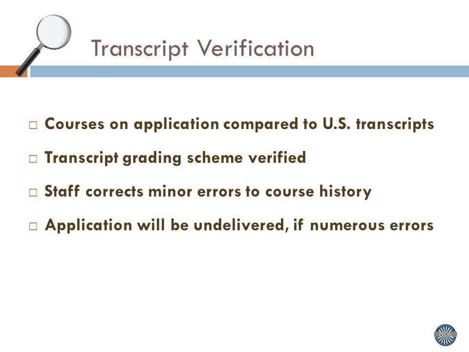 Transcript Verification