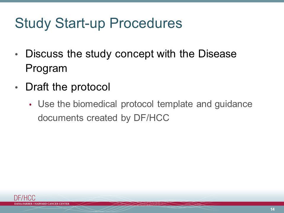 Study Start-up Procedures
