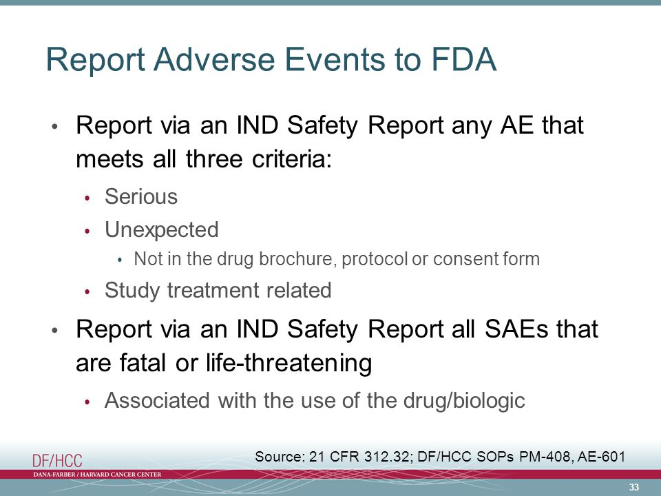 Report Adverse Events to FDA