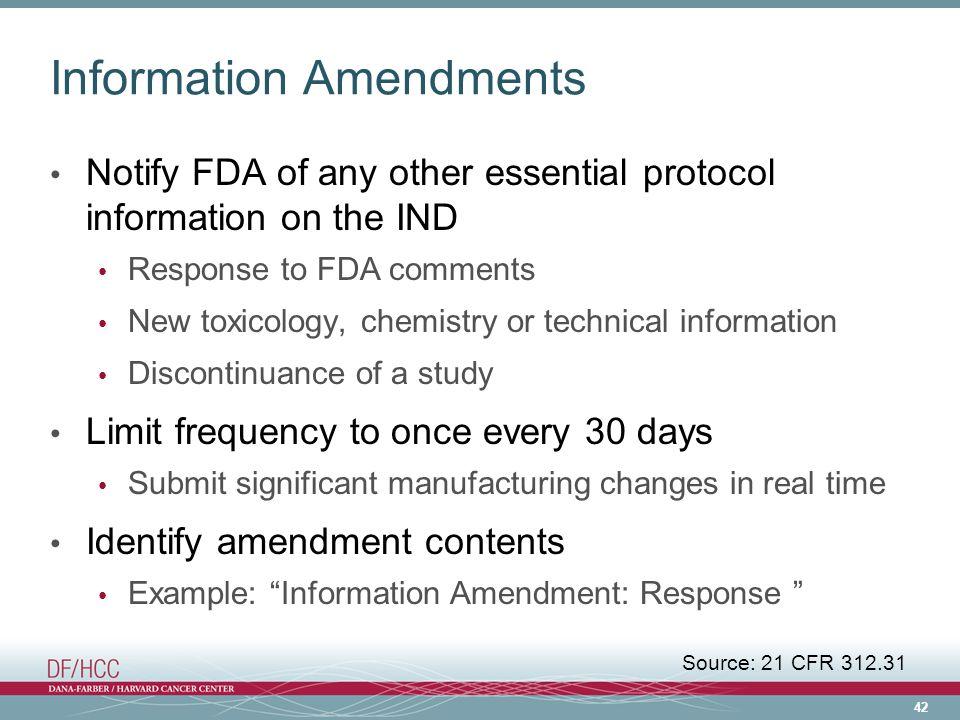 Information Amendments