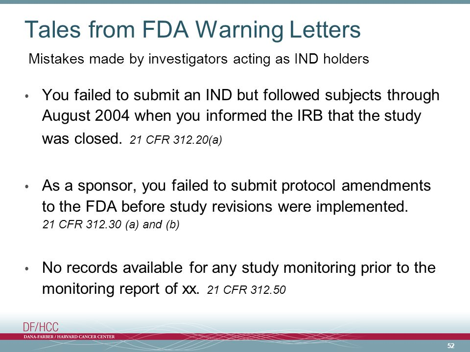 Tales from FDA Warning Letters