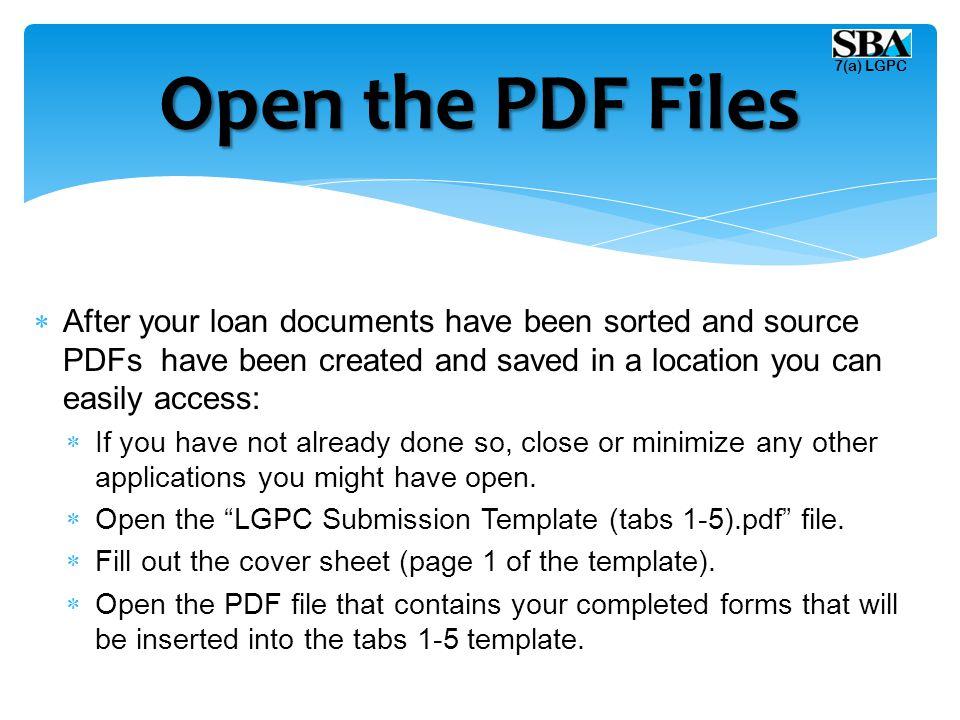 Open the PDF Files 7(a) LGPC.