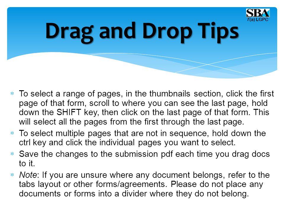 Drag and Drop Tips 7(a) LGPC.