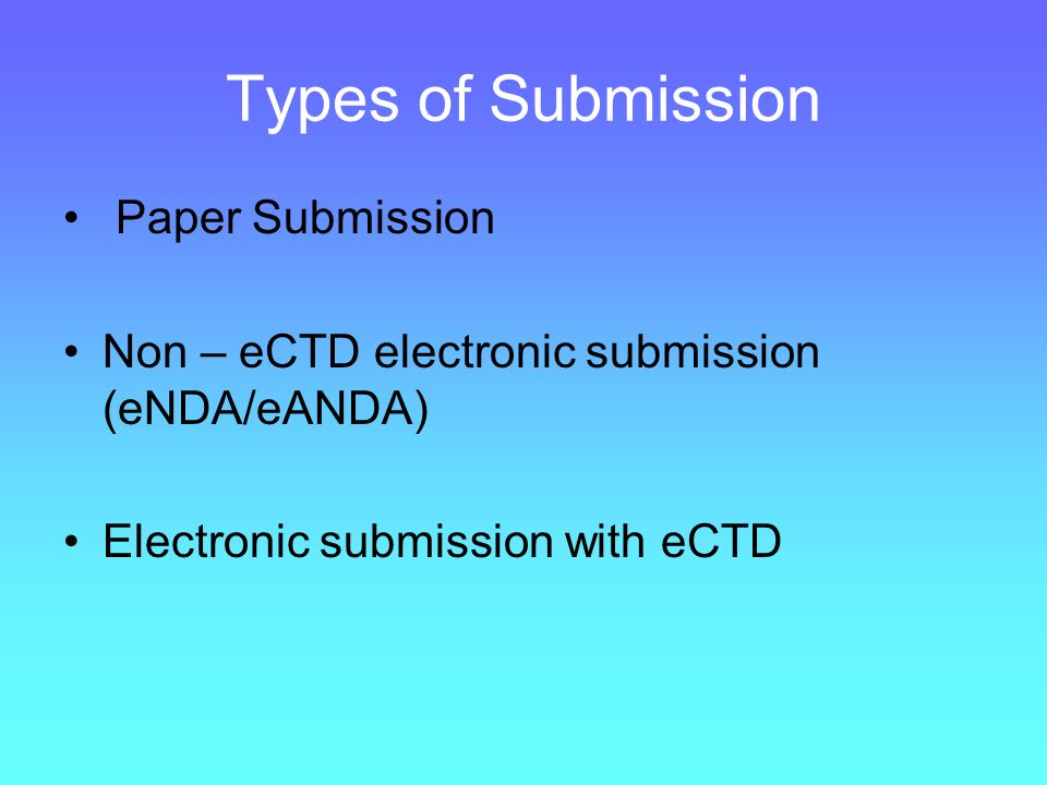 Types of Submission Paper Submission