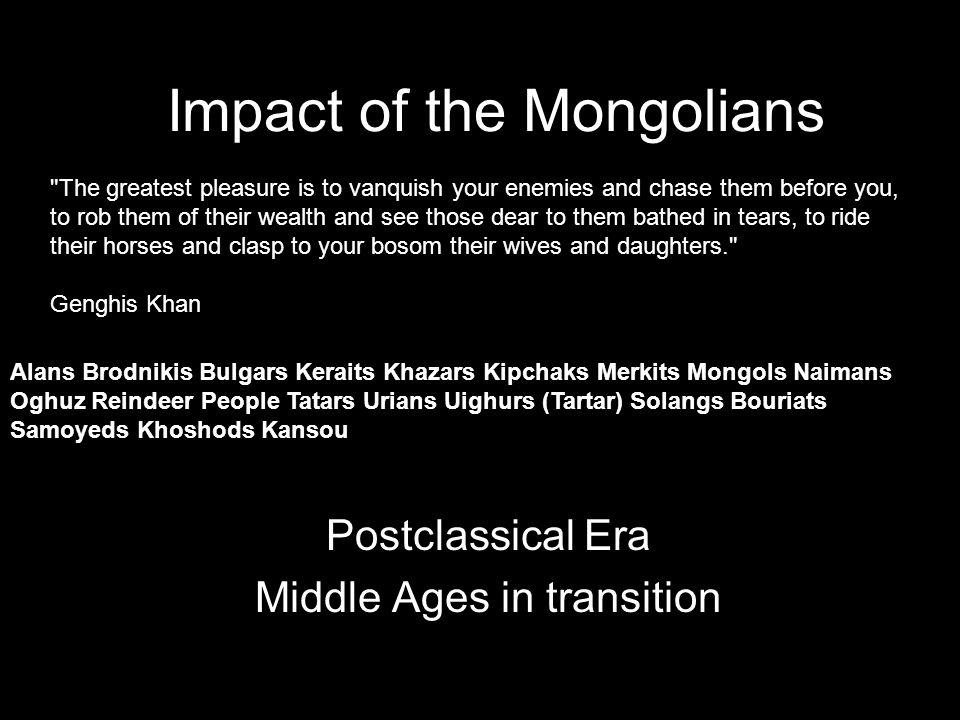 Impact of the Mongolians