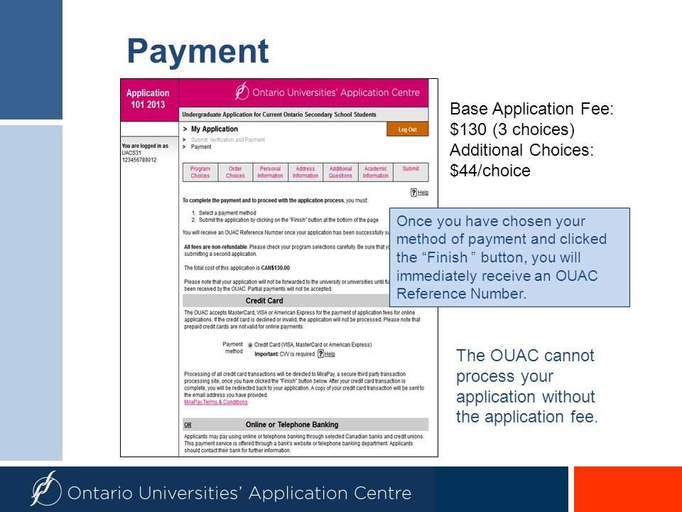 Payment Base Application Fee: $130 (3 choices) Additional Choices: