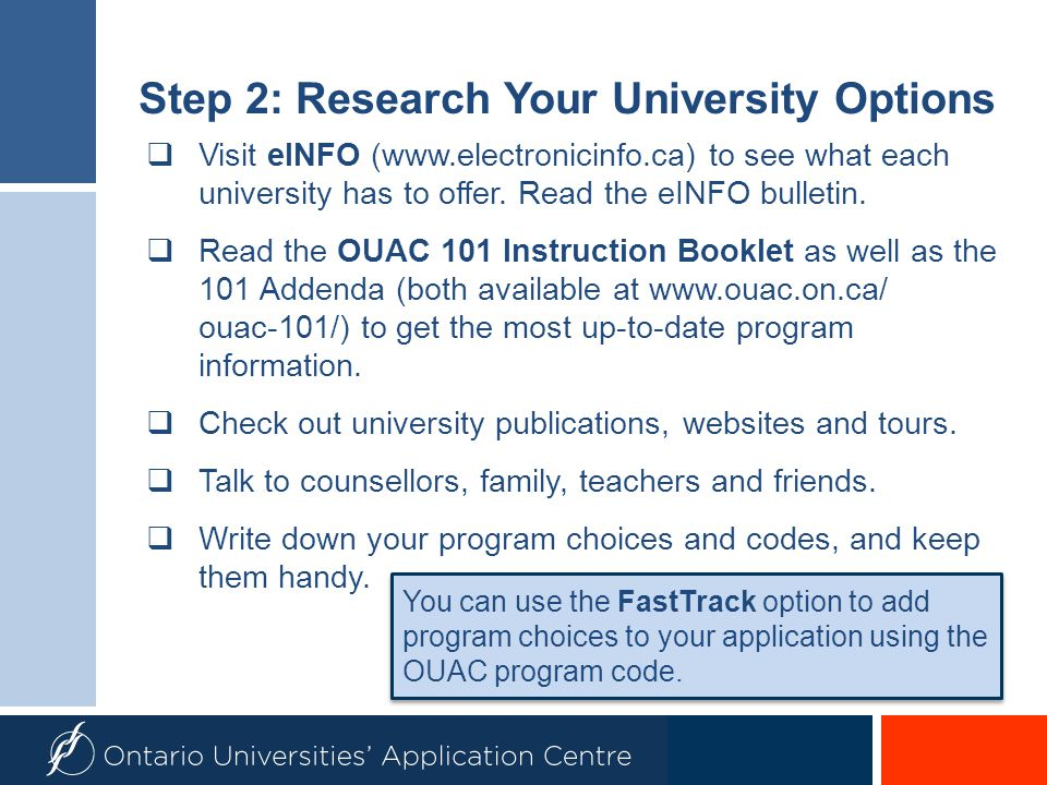 Step 2: Research Your University Options