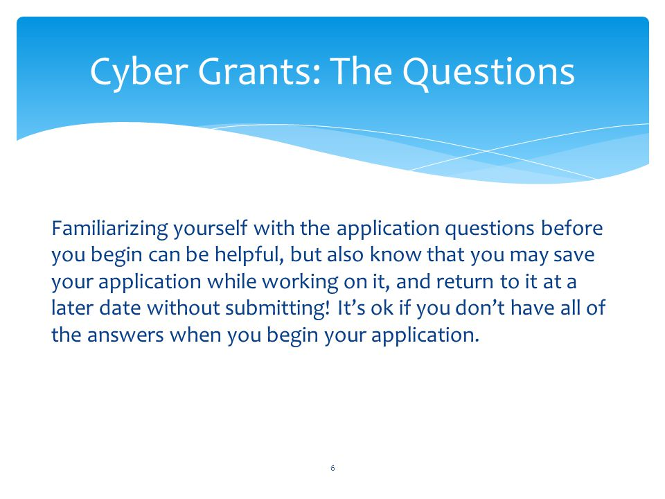 Cyber Grants: The Questions