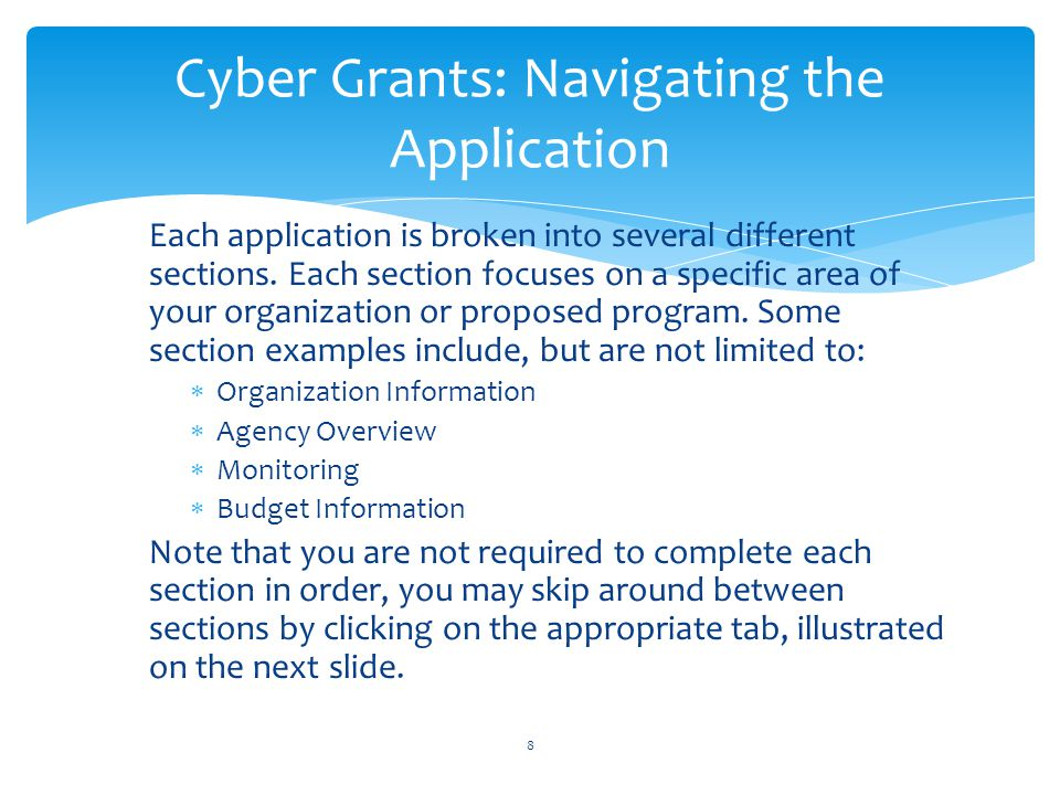 Cyber Grants: Navigating the Application