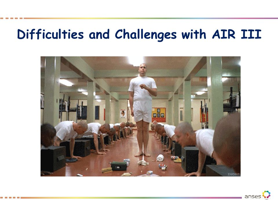 Difficulties and Challenges with AIR III