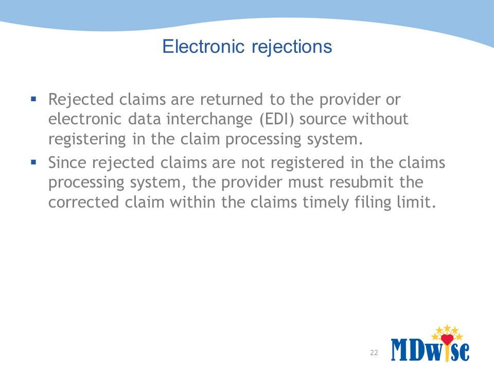 Electronic rejections