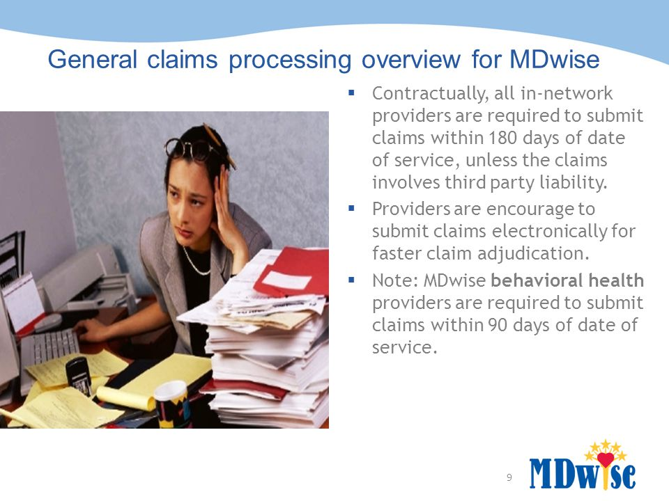 General claims processing overview for MDwise