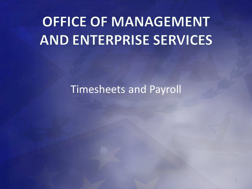 OFFICE OF MANAGEMENT AND ENTERPRISE SERVICES