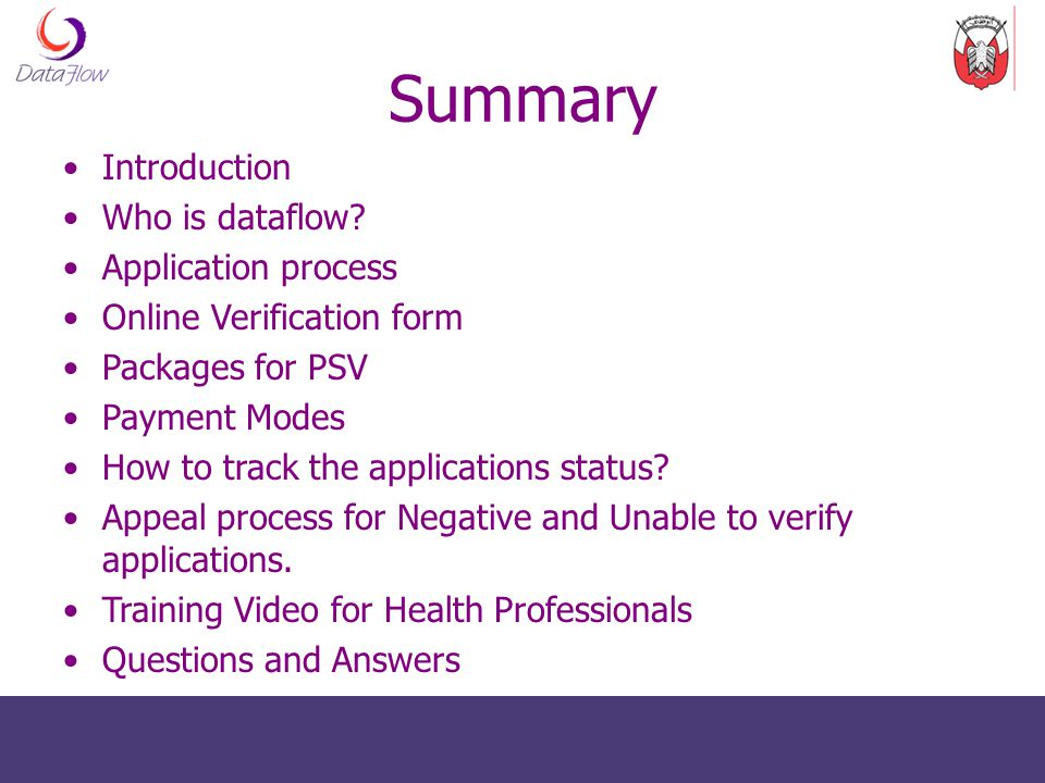 Summary Introduction Who is dataflow Application process