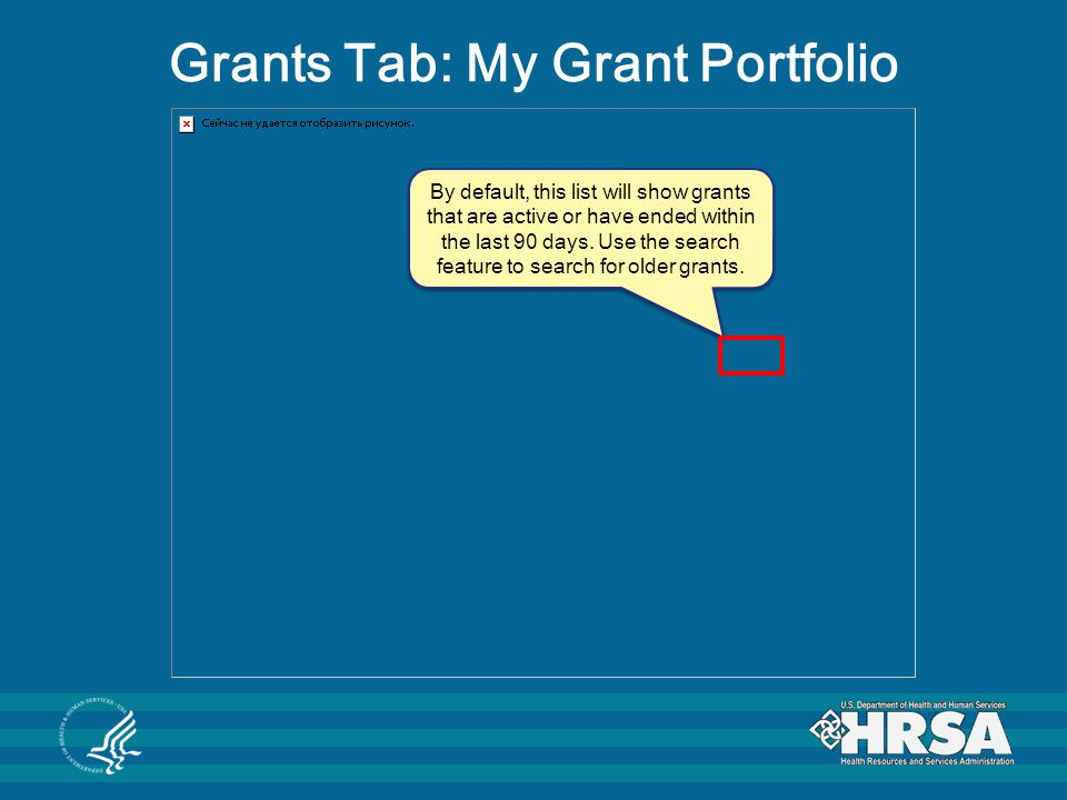 Grants Tab: My Grant Portfolio