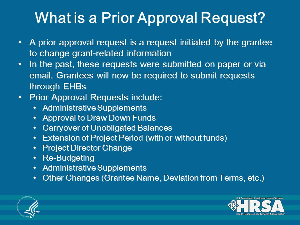 What is a Prior Approval Request