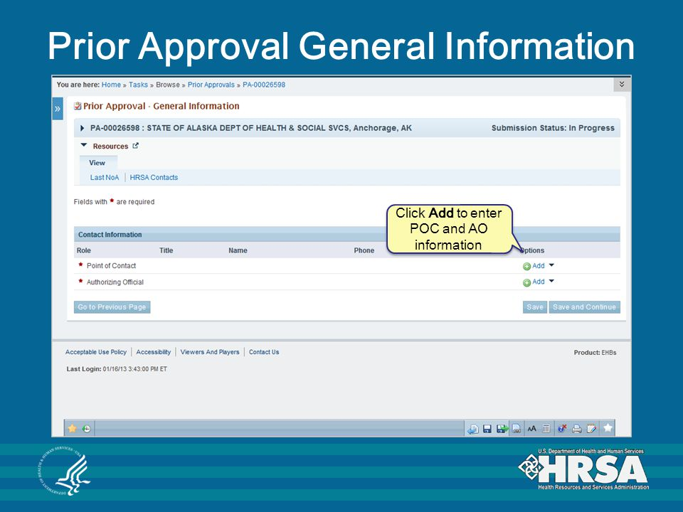Prior Approval General Information