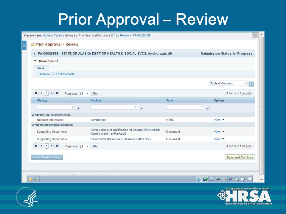 Prior Approval – Review