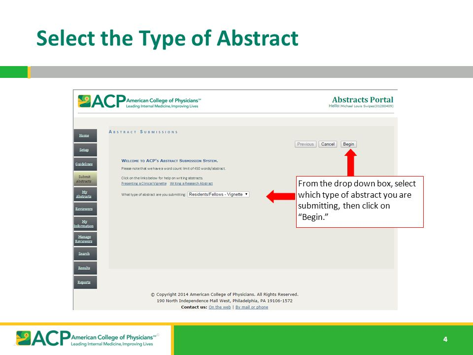 Select the Type of Abstract