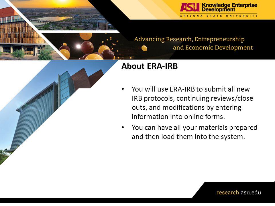 About ERA-IRB