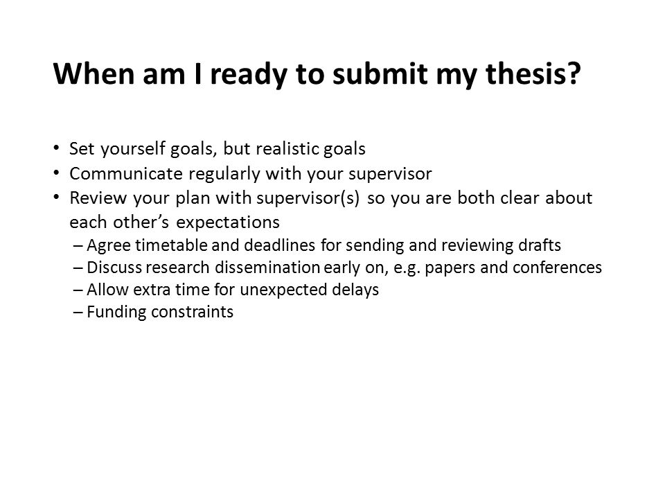When am I ready to submit my thesis
