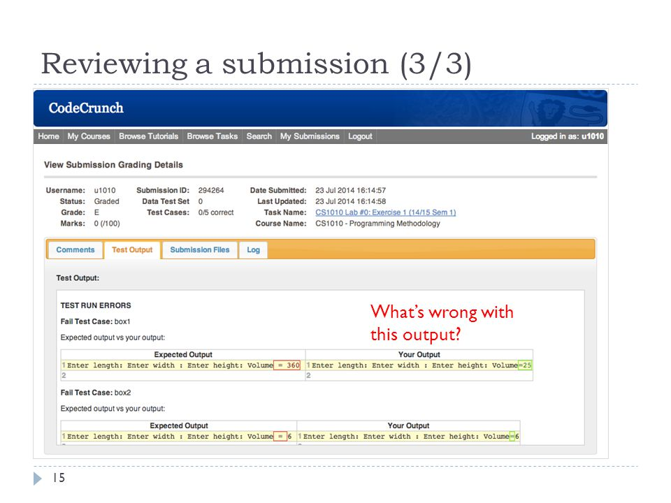Reviewing a submission (3/3)